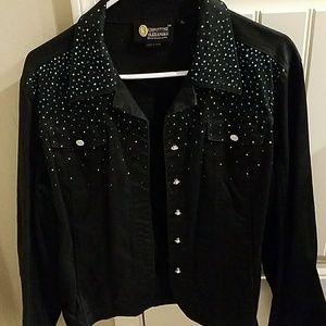Christine Alexander black denim jacket
